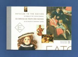Kanada 1994 , Book Of 10 Stamps - 125 Years Of T.Eaton Company - Postfrisch / MNH / Mint / (**) 2 Scans - Cuadernillos Completos/libretas Completas