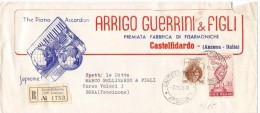 STORIA POSTALE REPUBBLICA 1960  -LETTERA PUBBLICITARIA  CASTELFIDARDO (AG124) - 6. 1946-.. Repubblica