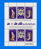 TRS 1978-0001, 25th Anniversary Of  Coronation, Sheetlet X 2 Sets (3V) MNH - Tristan Da Cunha
