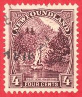 Newfoundland # 134 - 4 Cents - O- Dated 1923-1924 - Humber River  /  Rivière Humber - Neufundland