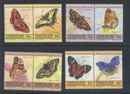 UNION-ISLAND 1985 PAPILLONS  Scott N°194/97 NEUF MNH** - Schmetterlinge