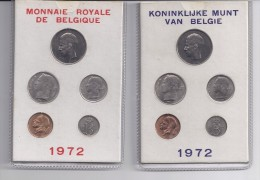 FDC-muntenset 1972 2 mapjes in karton met rood en blauwe opdruk