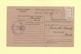 Ravitaillement General - Fiche De Controle - Meurthe Et Moselle - Landres - Postmark Collection (Covers)