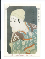 Japon Japan Chromo Japonaise  A.Kabuki Actor 93 X 63 Mm Écrite En Japonais Au Dos  TB  Jamais Collée - Cromo