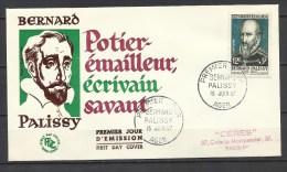 PREMIER JOUR .  BERNARD PALISSY . 15 JUIN 1957 . AGEN . - FDC