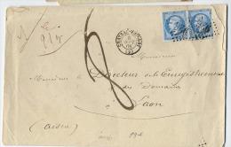 """A10b-Chateau-Thierry Aisne Taxée """"8d""""  Lettre 21gr Donc Triple Port 1 F 20  Moins 40c = 8décimes Peu Courant - Marcophilie (Lettres)"""