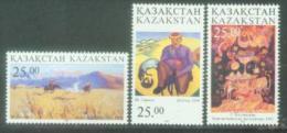 KAZ 1997-185-7 PAINTING, KAZAKISTAN, 1 X 3v, MNH - Kazakhstan