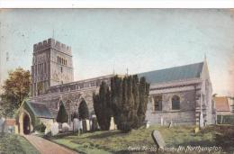 Earls Barton Church Nr Northampton Northamptonshire Postcard (NTH70921) - Northamptonshire