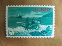 7-222 Noel Christmas Bateau Ship Vessel Sac Postal Poste Lundy île Océan Atlantique Courrier Postal Privé - Christmas