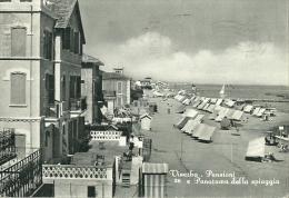 Viserba(Rimini)-Pensione EPanorama Della Spiaggia-1957 - Rimini