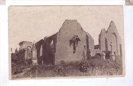 RAMSKAPELE Eglise Carte Photo  Nieuwport Apres La Guerre 1914 Bombardement - Non Classés