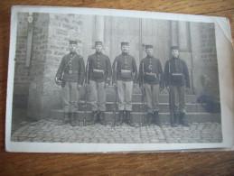 MILITARIA:PHOTO CARTE DE 5 SOLDATS DU 13 EME DE LIGNE AVEC ARTHUR MARTINOT-PHOTO E.GAVROY HABAY LA NEUVE - Guerre 1914-18