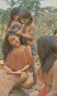 PERU - Yagua Women Lice Picking - Peru