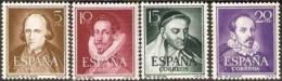 España 1950. Literatos. Ed 1071 / 1074. MNH. **. - 1931-Heute: 2. Rep. - ... Juan Carlos I