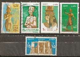 Egypte 1993 Collection Avec Tutankhamen Obl - Gebruikt
