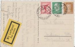 DR AK Luftpost Mif Minr.379,385,411 Thal 4.6.29 - Deutschland