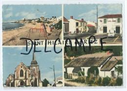 CP- Saint Hilaire De Riez - La Plage- La Place- L'Eglise- Une Bourrine - Saint Hilaire De Riez