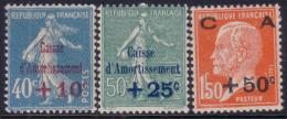 1ère Série Caisse D´Amortissement Neuve * TB (Y&T N° 246 à 248 , Cote 30€) - Cassa Di Ammortamento