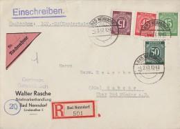 Gemeina.R-NN-Brief Mif Minr.921,922,931,932 Bad Nenndorf 1.2.47 - Gemeinschaftsausgaben