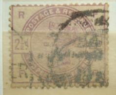 Great Britain Postage & Revenue 2 1/2d R F / F R United Kingdom - 1840-1901 (Victoria)