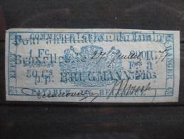 Timbres Belgique : TIMBRES FISCAUX POUR EFFETS DE COMMERCE 1870 ET 1873 - Fiscaux
