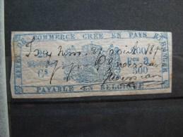 Timbres Belgique : TIMBRES FISCAUX POUR EFFETS DE COMMERCE 1870 ET 1873 - Revenue Stamps