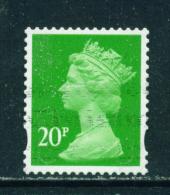 GREAT BRITAIN  -  2009+  Machin  20p  U-shaped Security Slits  Self Adhesive  Used As Scan - 1952-.... (Elizabeth II)