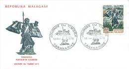 1973  Journée Du Timbre - Porteur De Courrier  FDC - Madagaskar (1960-...)