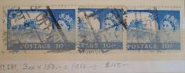 Great Britain Postage QE II 10/ S 1959 Type T3 UNCLASSIFIED (3 Diff Copies) - 1952-.... (Elizabeth II)