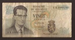 België Belgique Belgium 15 06 1964 20 Francs Atomium Baudouin. 2 X 1889240 - [ 6] Treasury