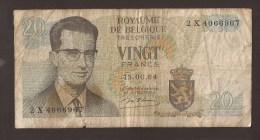 België Belgique Belgium 15 06 1964 20 Francs Atomium Baudouin. 2 X 4066967 - [ 6] Schatzamt
