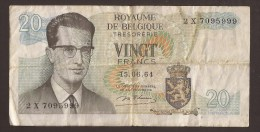 België Belgique Belgium 15 06 1964 20 Francs Atomium Baudouin. 2 X 7095999 - 20 Francs