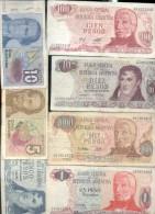 BILLETES REPUBLICA ARGENTINA 7 DIFERENTES LOTE SOLD AS IS REGULAR ESTADO DIFFERENT - Argentina