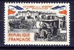 A VOIR !!!  N°1429 ** De 1964  SCAN CONTRACTUEL RECTO VERSO - Unused Stamps