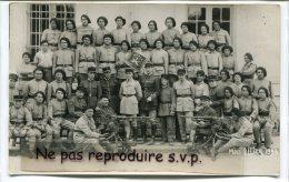 -Carte Photo - 81 éme R.I.A., Régiment D´Infanterie Alpine,  Montpellier, 1933, Mitrailleuses, Officiers, BE, Scans. - Régiments