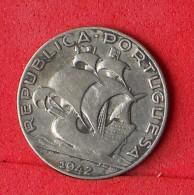 PORTUGAL  2.5  ESCUDOS  1942  SILVER COIN KM# 580  -    (Nº07052) - Portugal