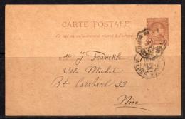 Carte Postale 1891 Michel P4 Sent To Nice 1894 (mo48) - Entiers Postaux