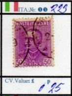 ITALY:KINGDOM#  CLASSIC DEFINITIVES (ITA 260-4 (15) - 1900-44 Vittorio Emanuele III