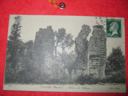 50 VALOGNES CPA RUINES DU CHATEAU N°168 1923 - Valognes