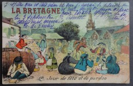 CPA 29 La Bretagne, Jour De Fête Et De Pardon, Dessin Humoristique - Artaud  Ref. B 93 - France