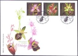 Croatia - Orchids, FDC, 2014 - Orquideas
