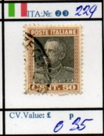 ITALY:KINGDOM#  CLASSIC DEFINITIVES (ITA 260-5 (23) - Usati