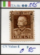 ITALY:KINGDOM#  CLASSIC DEFINITIVES (ITA 260-5 (24) - Usati