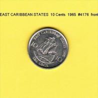 EAST CARIBBEAN STATES   10  CENTS  1986  (KM # 13) - Caraibi Orientali (Stati Dei)