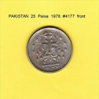 PAKISTAN   25  PAISA  1978  (KM # 37) - Pakistan