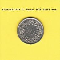 SWITZERLAND   10  RAPPEN  1975  (KM # 27) - Suiza