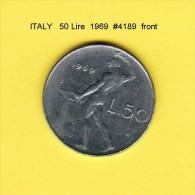 ITALY   50  LIRE  1969  (KM # 95) - 1946-… : Republic