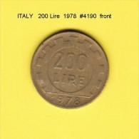 ITALY   200  LIRE  1978  (KM # 105) - 1946-… : Republic