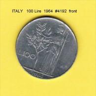 ITALY   100  LIRE  1964  (KM # 96) - 1946-… : Republic
