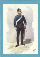 OFICIAL DA GUARDA FISCAL - CAVALARIA - ( 1890 ) - Uniformes Militares Portugueses - N.º 173.20 - Portugal - 2 SCANS - Uniformen